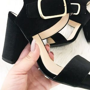 Shoes - Sophia Velvet Black Heels